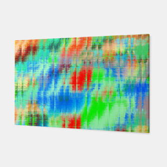 Thumbnail image of psychedelic geometric painting texture abstract background in blue green red Canvas, Live Heroes