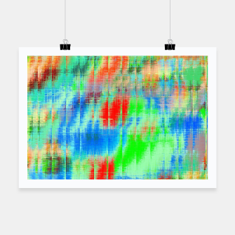 Thumbnail image of psychedelic geometric painting texture abstract background in blue green red Poster, Live Heroes