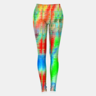Thumbnail image of psychedelic geometric painting texture abstract background in blue green red Leggings, Live Heroes