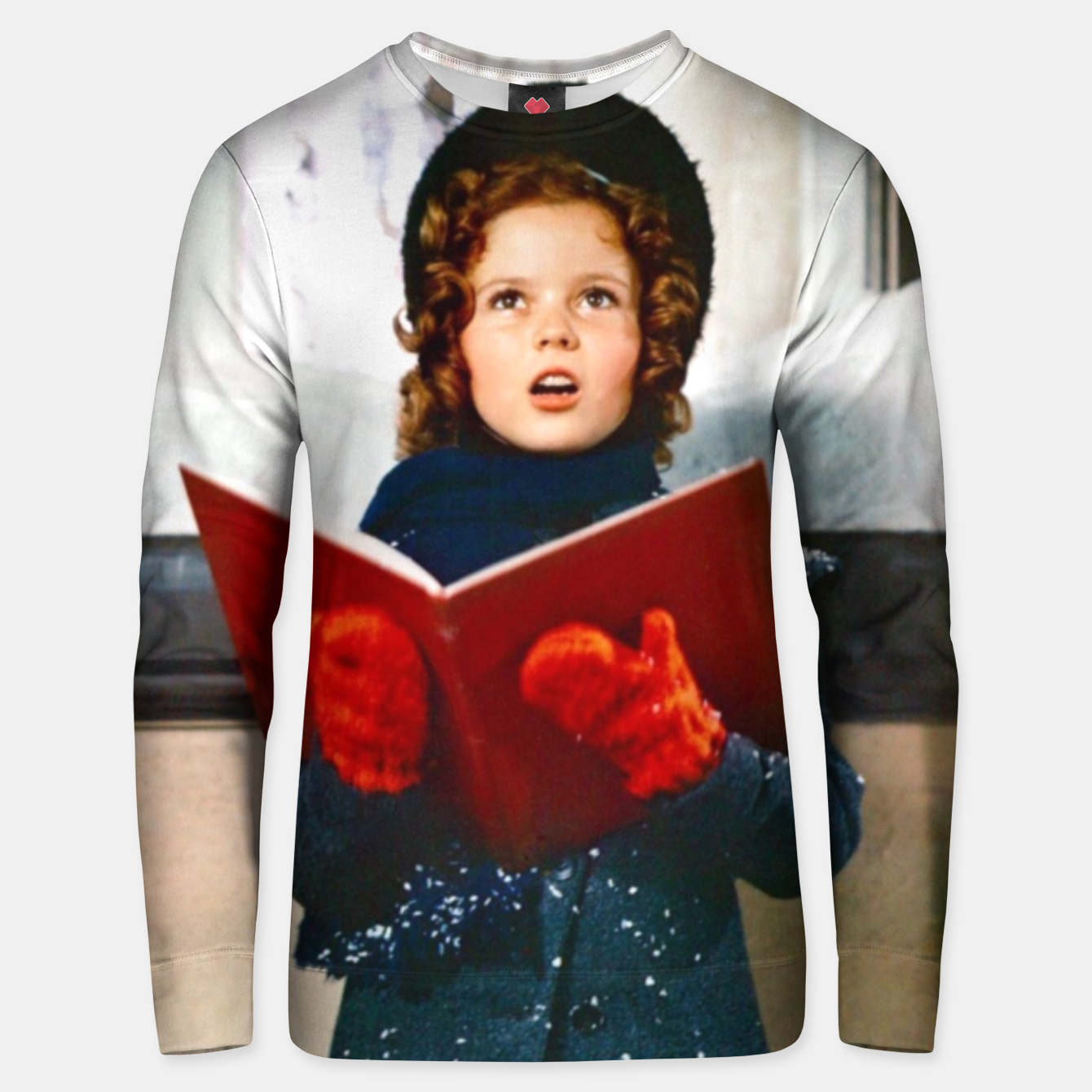 Foto Shirley Temple Christmas Unisex sweater - Live Heroes
