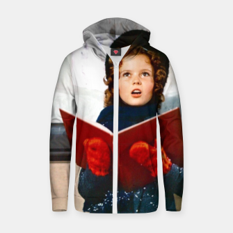 Miniatur Shirley Temple Christmas Zip up hoodie, Live Heroes