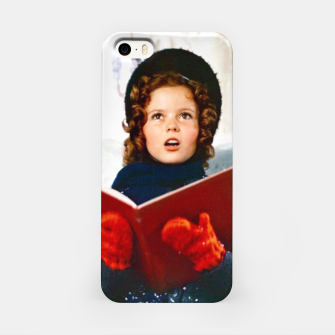 Shirley Temple Christmas iPhone Case Bild der Miniatur