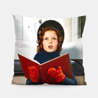 Shirley Temple Christmas Pillow Bild der Miniatur