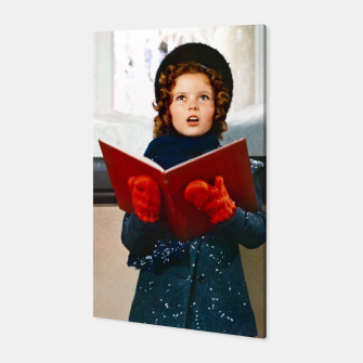 Shirley Temple Christmas Canvas Bild der Miniatur