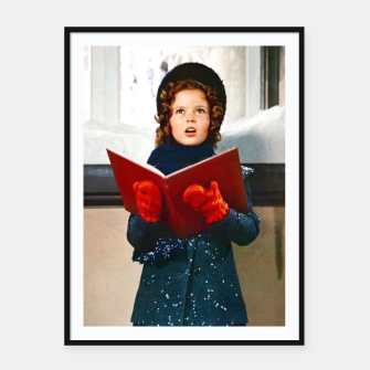 Thumbnail image of Shirley Temple Christmas Framed poster, Live Heroes