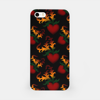 Miniaturka Flourish Hearts Black Background iPhone Case, Live Heroes