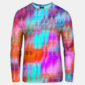 Thumbnail image of psychedelic geometric painting texture abstract background in pink blue orange purple Unisex sweater, Live Heroes