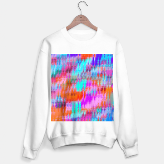 Thumbnail image of psychedelic geometric painting texture abstract background in pink blue orange purple Sweater regular, Live Heroes