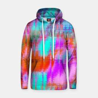 Thumbnail image of psychedelic geometric painting texture abstract background in pink blue orange purple Hoodie, Live Heroes