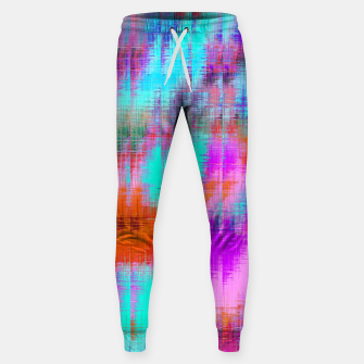 Thumbnail image of psychedelic geometric painting texture abstract background in pink blue orange purple Sweatpants, Live Heroes