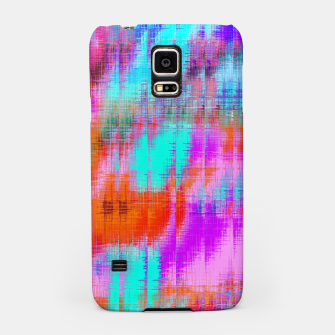 Thumbnail image of psychedelic geometric painting texture abstract background in pink blue orange purple Samsung Case, Live Heroes