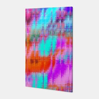 Thumbnail image of psychedelic geometric painting texture abstract background in pink blue orange purple Canvas, Live Heroes