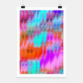Thumbnail image of psychedelic geometric painting texture abstract background in pink blue orange purple Poster, Live Heroes