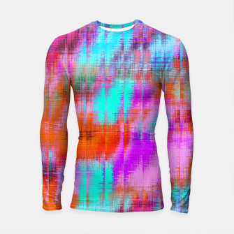 Thumbnail image of psychedelic geometric painting texture abstract background in pink blue orange purple Longsleeve rashguard , Live Heroes