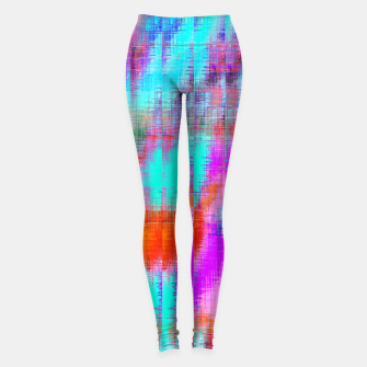 Thumbnail image of psychedelic geometric painting texture abstract background in pink blue orange purple Leggings, Live Heroes