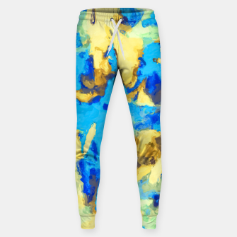 Miniaturka splash painting texture abstract background in blue and yellow Sweatpants, Live Heroes