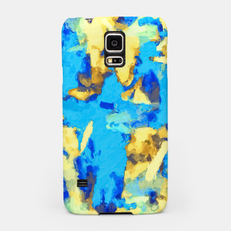 Miniaturka splash painting texture abstract background in blue and yellow Samsung Case, Live Heroes