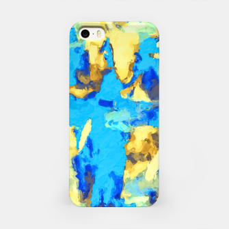 Miniaturka splash painting texture abstract background in blue and yellow iPhone Case, Live Heroes