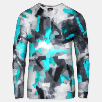 Miniaturka splash painting texture abstract background in blue and black Unisex sweater, Live Heroes