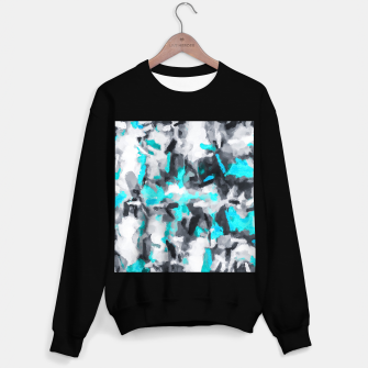 Miniaturka splash painting texture abstract background in blue and black Sweater regular, Live Heroes