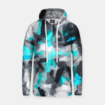 Miniaturka splash painting texture abstract background in blue and black Hoodie, Live Heroes