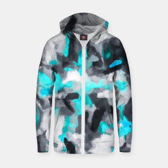 Miniaturka splash painting texture abstract background in blue and black Zip up hoodie, Live Heroes