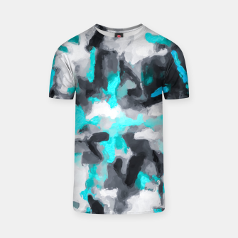 Miniaturka splash painting texture abstract background in blue and black T-shirt, Live Heroes