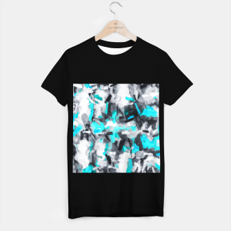 Miniaturka splash painting texture abstract background in blue and black T-shirt regular, Live Heroes