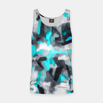 Miniaturka splash painting texture abstract background in blue and black Tank Top, Live Heroes