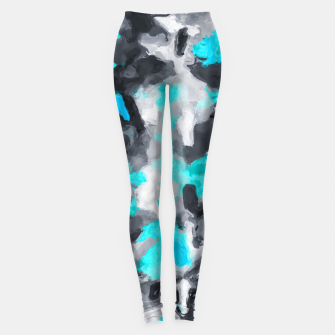 Miniaturka splash painting texture abstract background in blue and black Leggings, Live Heroes