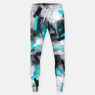 Miniaturka splash painting texture abstract background in blue and black Sweatpants, Live Heroes
