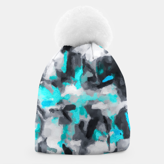 Miniaturka splash painting texture abstract background in blue and black Beanie, Live Heroes