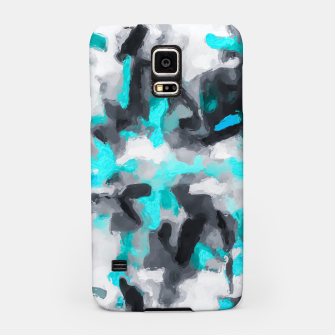 Miniaturka splash painting texture abstract background in blue and black Samsung Case, Live Heroes