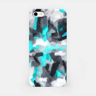 Miniaturka splash painting texture abstract background in blue and black iPhone Case, Live Heroes