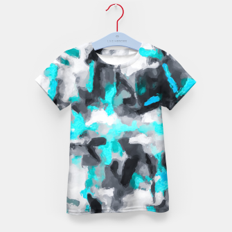 Miniaturka splash painting texture abstract background in blue and black Kid's t-shirt, Live Heroes