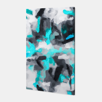 Miniaturka splash painting texture abstract background in blue and black Canvas, Live Heroes