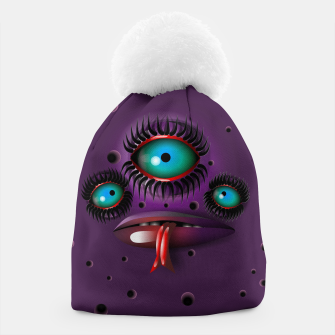 Thumbnail image of Purple Monster Beanie, Live Heroes