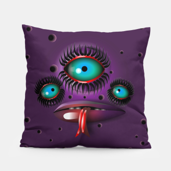 Thumbnail image of Purple Monster Pillow, Live Heroes