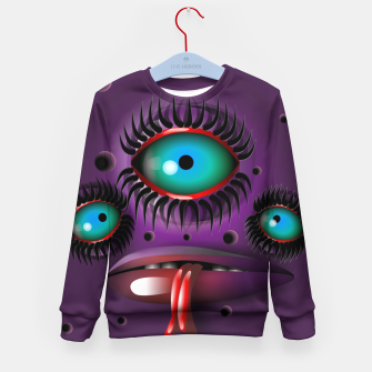Thumbnail image of Purple Monster Kid's sweater, Live Heroes