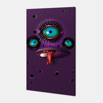Thumbnail image of Purple Monster Canvas, Live Heroes
