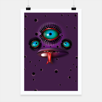 Thumbnail image of Purple Monster Poster, Live Heroes