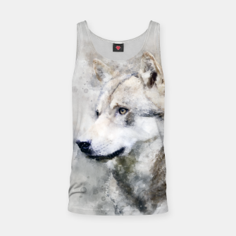 Thumbnail image of Watercolour wild grey wolf Tank Top, Live Heroes