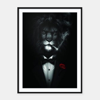 Miniatur The Stylish Lion. Framed poster, Live Heroes