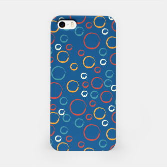 Miniaturka Colorful chalk open circles pattern iPhone Case, Live Heroes