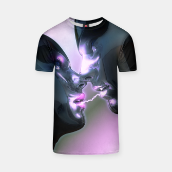 Thumbnail image of Electric Lovers (Robot Illustration) T-Shirt, Live Heroes