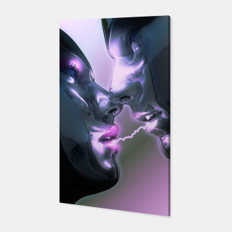 Electric Lovers (Robot Illustration) Canvas thumbnail image