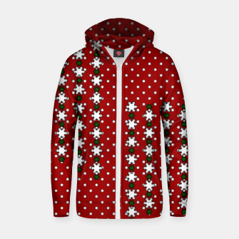 Miniaturka Winter Snowflakes Zip up hoodie, Live Heroes