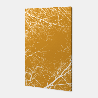 Miniaturka Branches Impressions on yellow  Canvas, Live Heroes