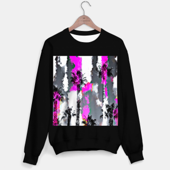 Miniaturka palm tree with splash painting texture abstract background in pink and black Sweater regular, Live Heroes