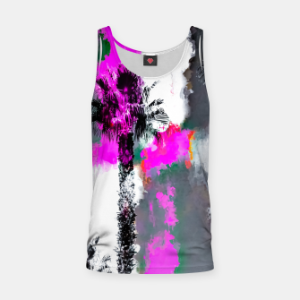 Miniaturka palm tree with splash painting texture abstract background in pink and black Tank Top, Live Heroes